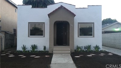 Los Angeles Single Family Home For Sale: 746 W 99th Street