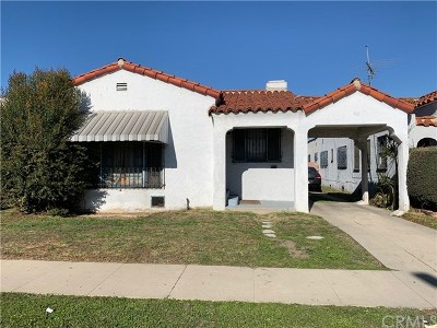 Los Angeles Single Family Home Active Under Contract: 831 E 82nd Street
