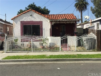 Lynwood Single Family Home Active Under Contract: 11607 School Street
