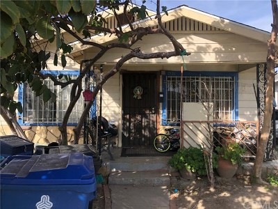 Los Angeles Single Family Home For Sale: 1531 W 66th Street