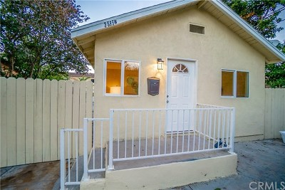 Lynwood Single Family Home For Sale: 3585 Platt Avenue #B