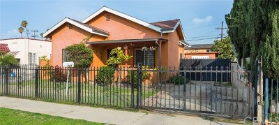 Los Angeles Single Family Home For Sale: 625 E 76th Street