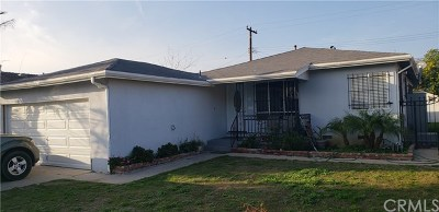Compton Single Family Home For Sale: 2205 W 159th Street
