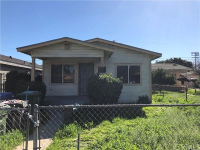 Los Angeles Single Family Home For Sale: 1732 W 59th Place