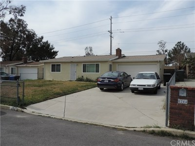 Rancho Cucamonga Single Family Home Active Under Contract: 8244 Morton Avenue
