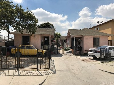 Los Angeles Multi Family Home For Sale: 334 W 87th Street