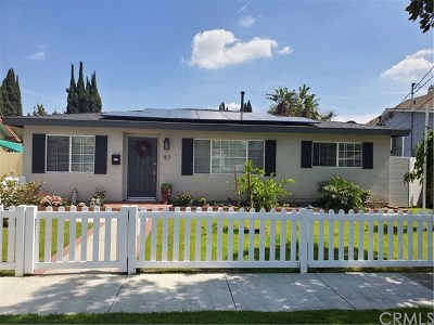 Tustin Single Family Home For Sale: 157 Pacific Street
