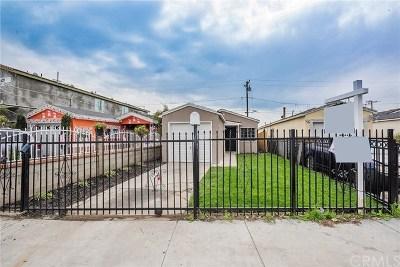 Compton Single Family Home For Sale: 2110 E Nord Street