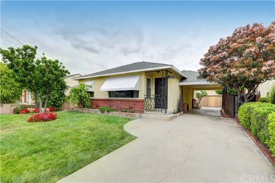 Downey Single Family Home Active Under Contract: 7169 Adwen Street