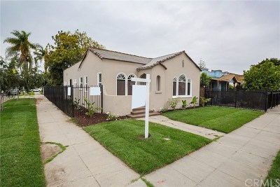 Los Angeles Single Family Home For Sale: 1600 W 65th Place