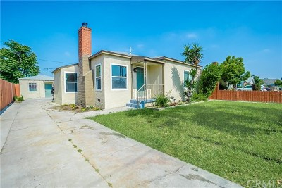 Compton Single Family Home For Sale: 1719 N McDivitt Avenue