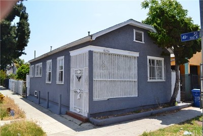 Los Angeles Single Family Home For Sale: 4104 S Hoover Street