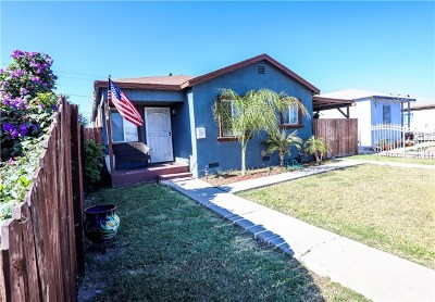 Los Angeles Single Family Home For Sale: 639 E 138th Street