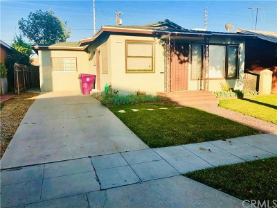 Long Beach Single Family Home For Sale: 5880 Gardenia Avenue