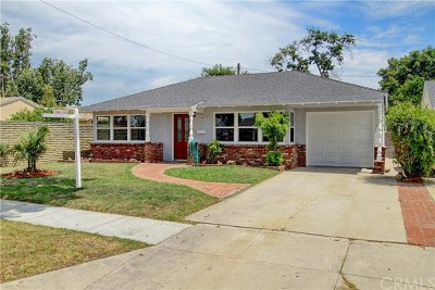Downey Single Family Home Active Under Contract: 7643 Arnett Street