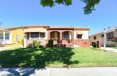 Los Angeles Single Family Home For Sale: 11532 S St Andrews Place