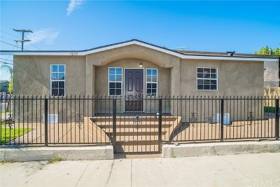 Los Angeles Single Family Home For Sale: 1655 E 95th Place