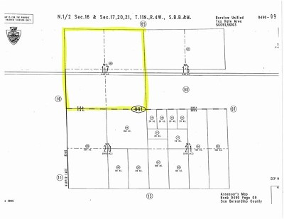 Barstow CA Residential Lots & Land For Sale: $1,280,000