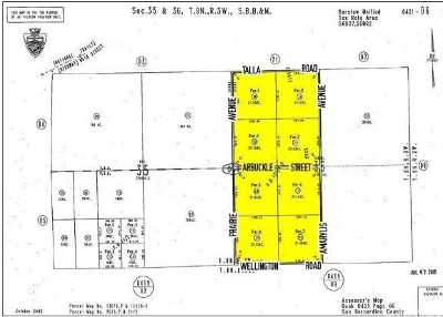 Barstow Residential Lots & Land For Sale: Amaraylis