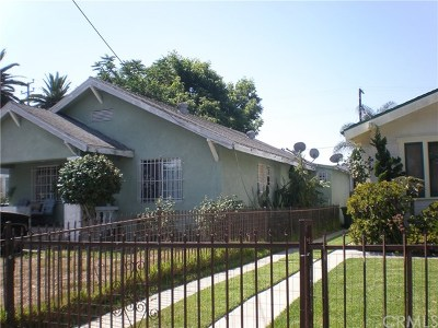 Los Angeles Single Family Home For Sale: 190 E 47th Place