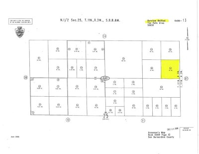 Barstow CA Residential Lots & Land For Sale: $9,999