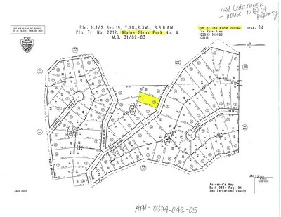Twin Peaks Residential Lots & Land For Sale: 5 Cedarbrook Drive