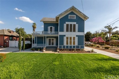 Redlands Single Family Home Active Under Contract: 1033 W Palm