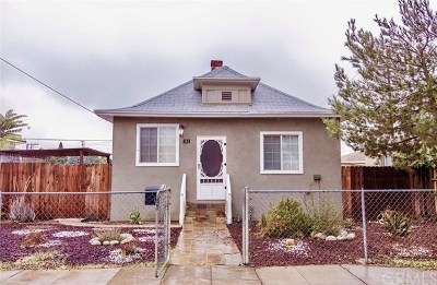 Redlands CA Single Family Home For Sale: $290,000