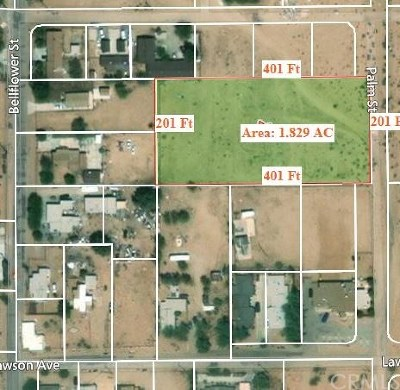Adelanto Residential Lots & Land For Sale: Palm Street