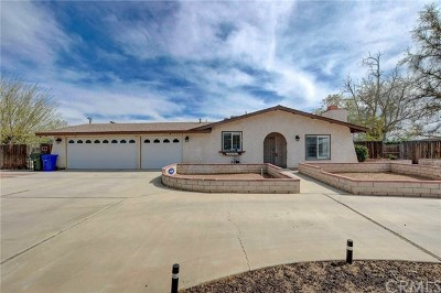 Apple Valley Single Family Home For Sale: 20701 Rancherias Road