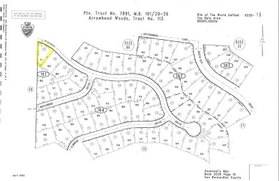 Lake Arrowhead CA Residential Lots & Land For Sale: $34,000