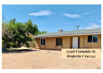 Hesperia CA Single Family Home For Sale: $245,000