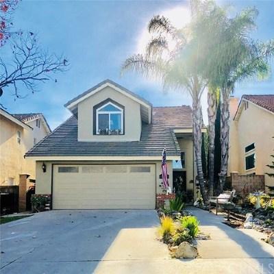 Chino Hills Single Family Home For Sale: 2159 Avenida Hacienda