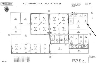Victorville Residential Lots & Land For Sale: NW 1/4 Sw 1/4 Sw 1/4 NW 1/4 Sec11 Tp 5n R 5w 2.5ac