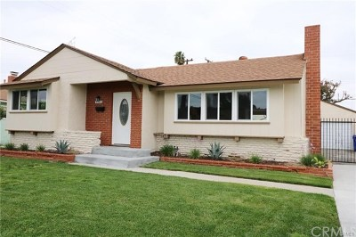 Downey Single Family Home For Sale: 7329 Gainford Street