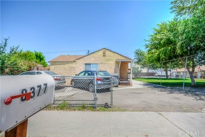 Riverside Single Family Home For Sale: 8377 Cypress Avenue