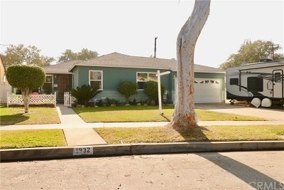 Fullerton Single Family Home For Sale: 1932 W West Avenue