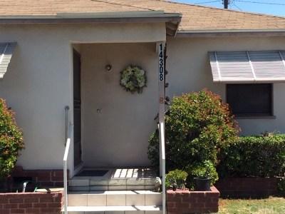 Gardena Single Family Home For Sale: 14308 S Orchard Avenue