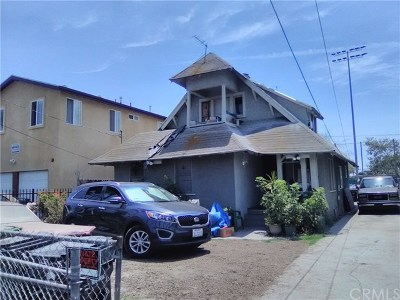 Los Angeles Single Family Home For Sale: 1552 E Martin Luther King Jr Boulevard