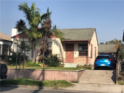 Los Angeles Single Family Home For Sale: 2914 Hauser Boulevard