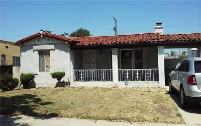 Los Angeles Single Family Home For Sale: 709 W 103rd Street