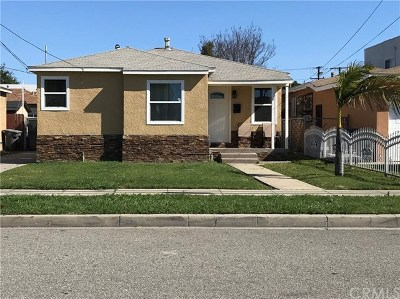 Gardena Single Family Home For Sale: 1847 W 145th Street