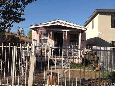 Los Angeles Single Family Home Active Under Contract: 2417 E 113th Street