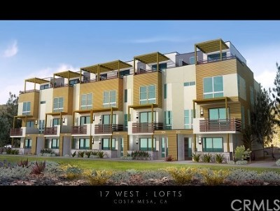 Costa Mesa Condo/Townhouse For Sale: 1658 Topanga