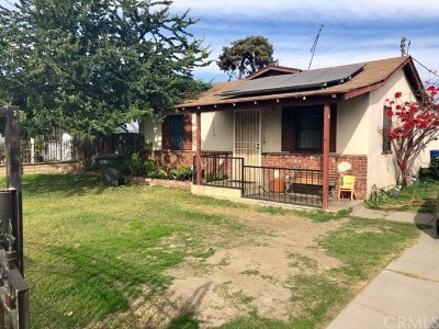 El Monte Single Family Home For Sale: 11519 Asher Street