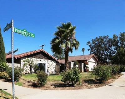 Covina Single Family Home For Sale: 604 S Prospero Drive