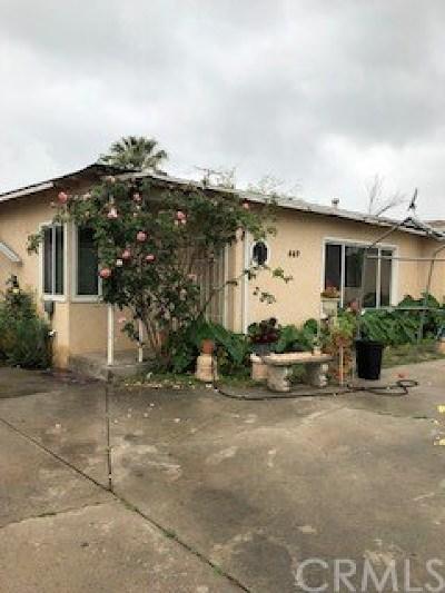 Rialto Single Family Home For Sale: 449 E Etiwanda Avenue