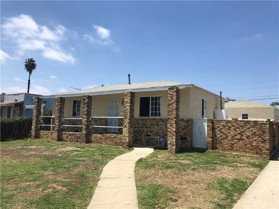 Gardena Multi Family Home For Sale: 803 W 134th Street