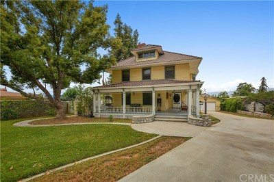 Redlands Single Family Home For Sale: 860 W Palm Avenue