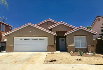 Perris Single Family Home For Sale: 3757 Province Way